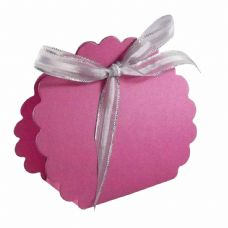Cerise Scalloped Clam Designer Favour Boxes